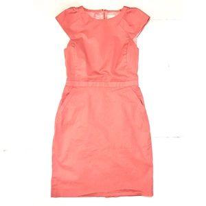{J. Crew Factory} Coral Cap Sleeve Suit Dress